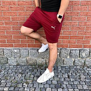 Мужские спортивные повседневны шорты Puma | Пума | Чоловічі шорти спортивні Пума (Бордовые)
