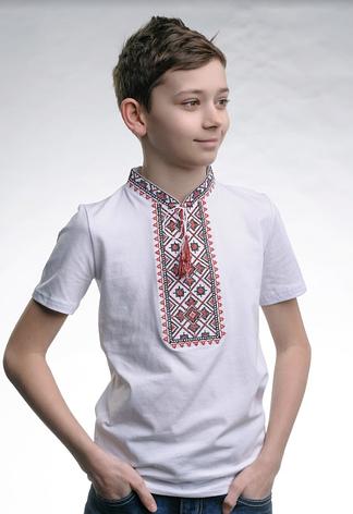 Вышитая футболка для мальчика трикотажная, фото 2