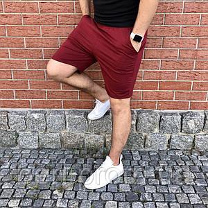 Мужские спортивные повседневны шорты  |  Класик | Чоловічі шорти спортивні  (Бордовые)