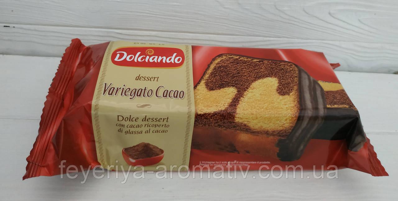 Кекс в шоколаде Dolciando dessert Variegato cacao, 400гр (Италия)