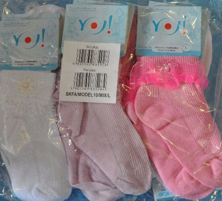"""Носки """"рюши"""" хлопок-сетка для девочек L-(3-4) .Детская одежда оптом"""
