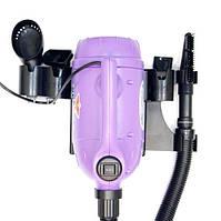 Фен + пылесос для животных стационарный XPOWER 1000W фиолетовый + 6 насадок