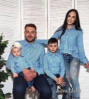 Одинаковый наряд мама, папа, сын и дочка