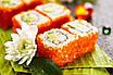 Икра Масаго для суши (оранжевая) 100 грамм стекло, фото 3