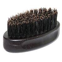 Щетка для бороды BarberPro деревянная с натуральной щетиной малая