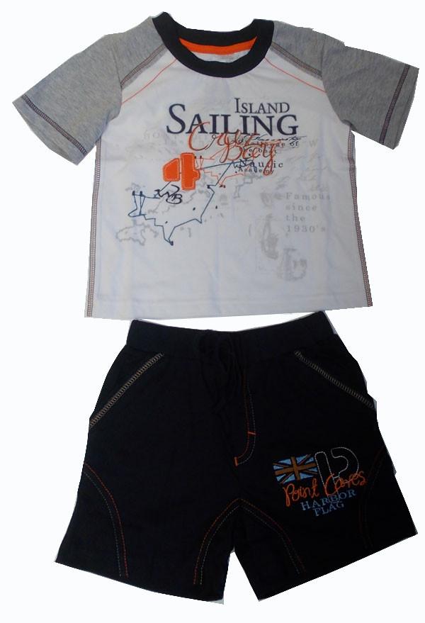 Костюм для мальчика «Остров сокровищ» футболка и шорты  Garden Baby, 42070-03 ( р. 92-110 )