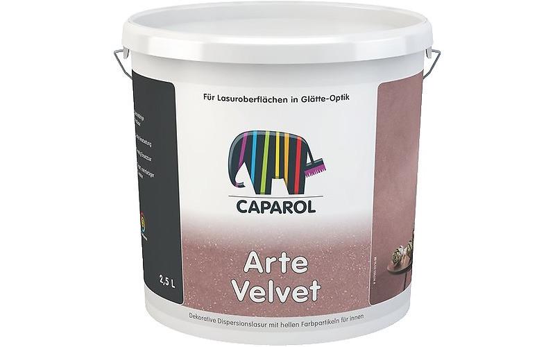 Capadecor ArteVelvet 2,5л лазурь для стен на основе акрилата со светлыми частицами.
