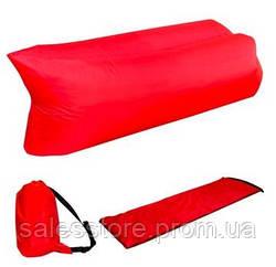 Ламзак Air Sofa IS-1 надувной шизлонг - диван для пляжа отдыха дачи и путешествий  Красный