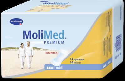 Урологические прокладки женские, Molimed Premium Midi, Германия