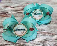 """Бантики для волос с именами """"Мариам"""", банты на резинке ручной работы"""