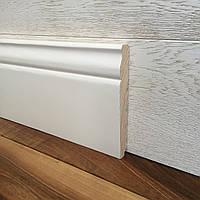 """""""Классик"""" 140х20 мм, Высокий белый деревянный плинтус из Ольхи, фото 1"""