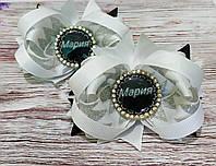 """Бантики для волос с именами """"Мария"""", банты на резинке ручной работы"""