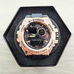 Электронные часы Casio GLG-1000 Black-Cuprum, спортивные часы Касио Джи Шок, реплика, отличное качество, отличное качество!