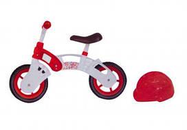"Беговел ""Star Bike"" с шлемом, 10"" (бело-красный) KW-11-013"