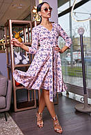 Жіноча нарядна сукня, рожева, з рюшами, молодіжна, романтична, повсякденна, елегантна, гламурна, на запах