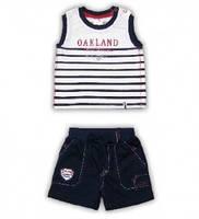 """Костюм для мальчика """"JUNIOR 85"""" футболка и шорты  Garden Baby, 42044-16 ( р. 68, 74 )"""