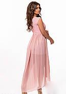 / Размер 42-46 / Женское вечернее платье со шлейфом 29363 цвет пудра, фото 3