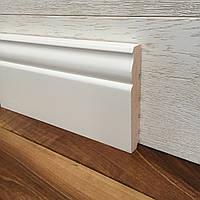 """""""Классик"""" 120х20 мм, Высокий белый деревянный плинтус из Ольхи, фото 1"""