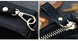 Клатч жіночий гаманець шкіряний (чорний з золотистим), фото 8