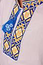 Вышиванка для мальчика с сине-желтой вышивкой, фото 3