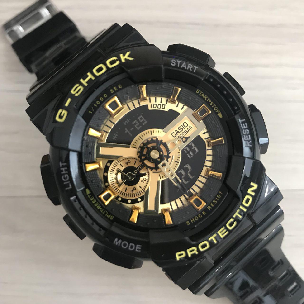 Электронные часы Casio G-Shock GA-110 Black-Gold New, спортивные часы Касио Джи Шок, реплика, отличное качество