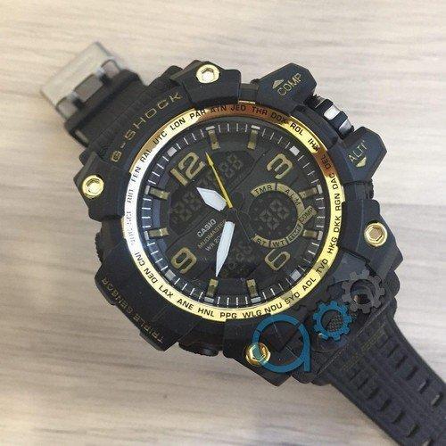 Электронные часы Casio G-Shock GG-1000 Black-Gold, спортивные часы Касио Джи Шок, реплика, отличное качество