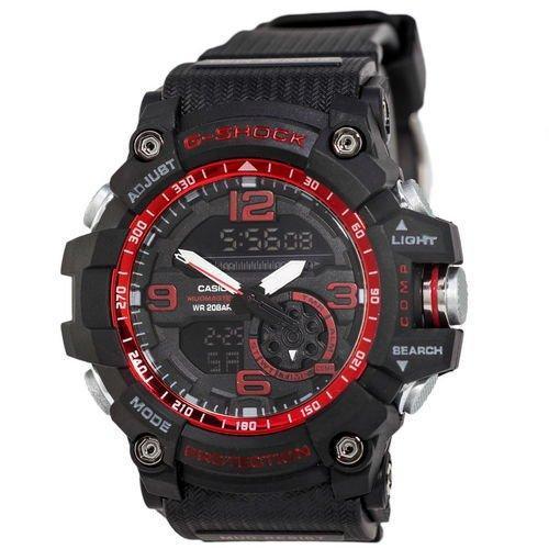 Электронные часы Casio G-Shock GG-1000 Black-Red, спортивные часы Касио Джи Шок, реплика, отличное качество