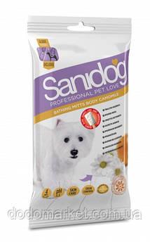 Влажные салфетки-рукавицы для собак Sanidog Camomilla 4 шт