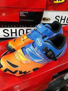 Велотуфли Northwave 41/42 г. HAMMER SRS BioMap оранжевый orang / blue