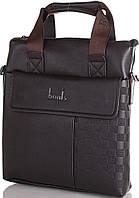 Стильная мужская борсетка-сумка из качественной эко-кожи BONIS (БОНИС) SHIL8459-black черный