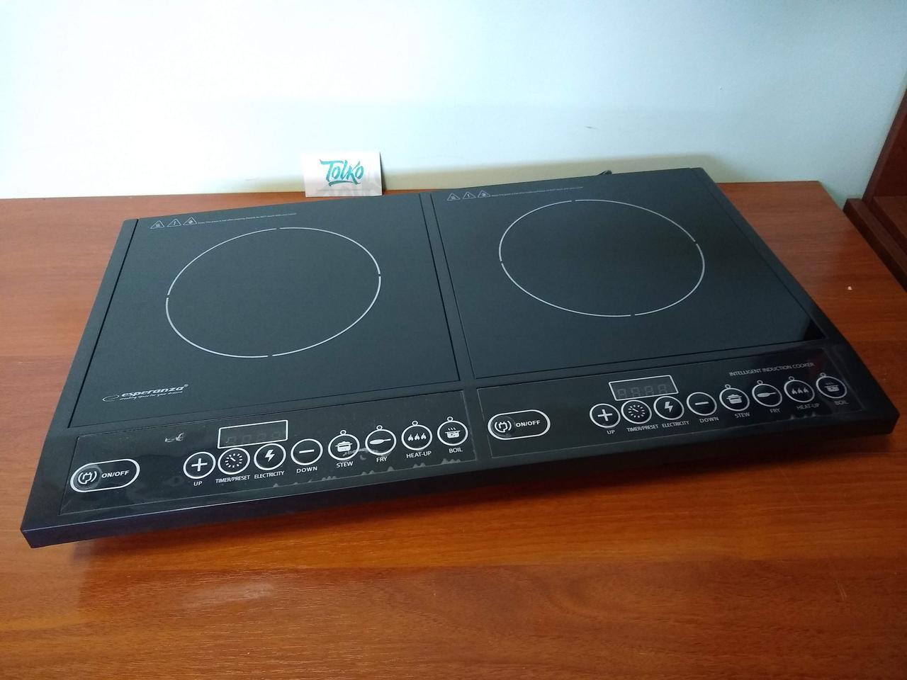 Настольная индукционная плита Esperanza EKH008 на 2 конфорки