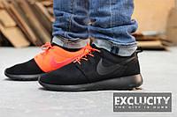 Мужские кроссовки Nike Roshe Run Black/Orange 40 Черный