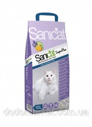 Впитывающий наполнитель для кошек с ароматом лаванды и апельсина Sanicat SuperPlus 10 л