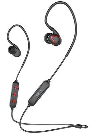 Безпровідні навушники HOCO ES19 Joy sound sport Bluetooth Чорний/Червоний, фото 2