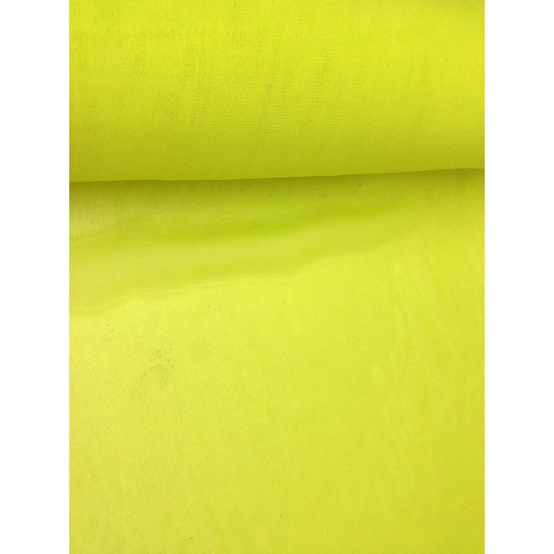 Шифон однотонный - лимонный салатовый