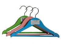 Цветные деревянные плечики 32см для детской и подростковой одежды