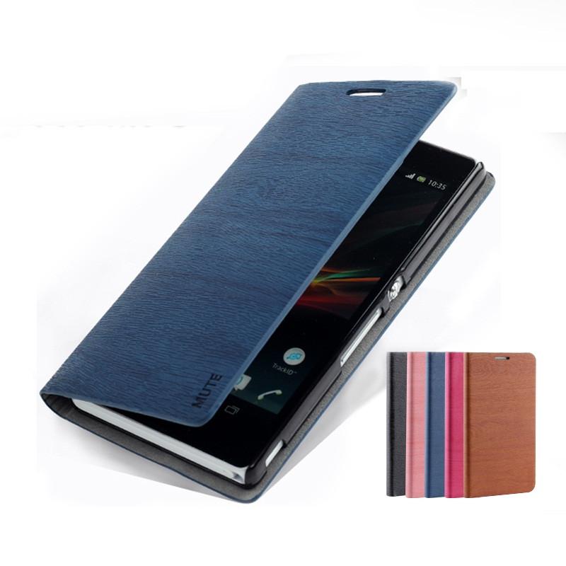 """SONY Z C6602/C6603 оригинальный чехол книжка влагостойкий для телефона """"MUTE WOOD"""""""
