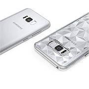 Силиконовый чехол Diamond на Samsung A70