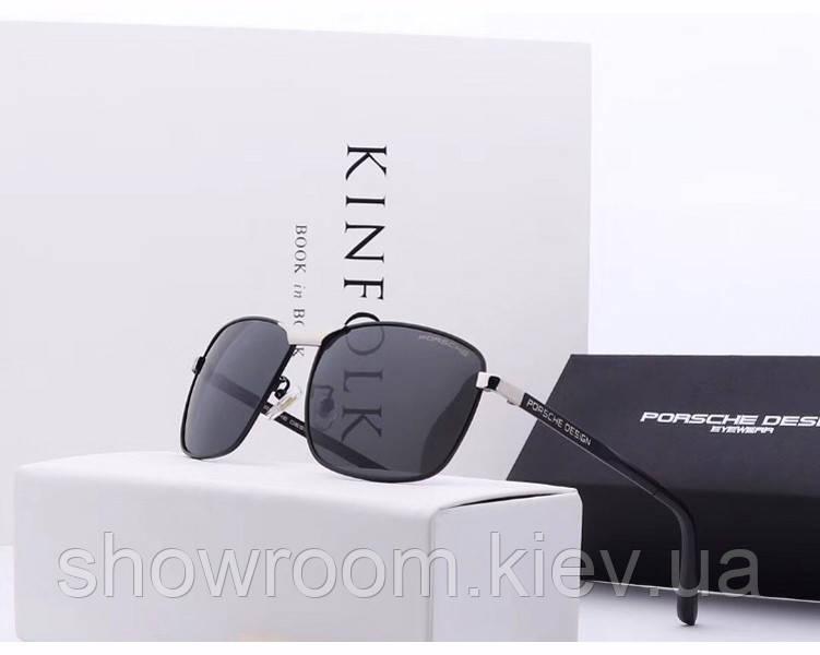 Мужские солнцезащитные очки в стиле Porsche Design c поляризацией (p-8853)