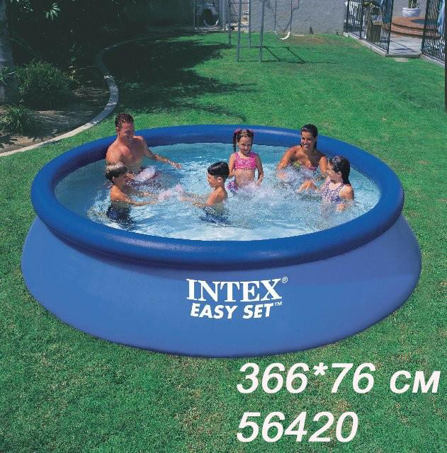 Бассейн надувной INTEX 56420  366*76  см