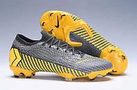 Футбольные бутсы Nike Mercurial Vapor XII Elite FG Thunder Grey/Black/Dark Grey, фото 1
