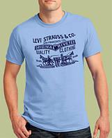 0011-TSRA-150-SK    Мужская футболка «LEVI STRAUSS & CO.» Голубая