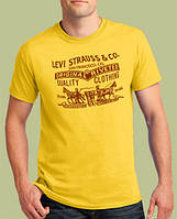 0011-TSRA-150-SY    Мужская футболка «LEVI STRAUSS & CO.» Желтая