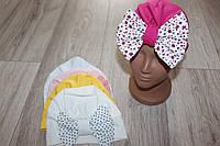 Трикотажная шапка,бант (можно разные цвета)