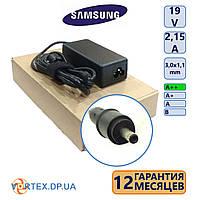 Зарядное устройство для ноутбука 3,0-1,1 mm 2,15A 19V Samsung класс А++ (кабель питания в подарок) нов