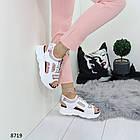 Белые женские босоножки на шнуровке, искусственная кожа 37 ПОСЛЕДНИЙ РАЗМЕР, фото 2