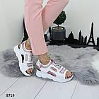 Белые женские босоножки на шнуровке, искусственная кожа 37 ПОСЛЕДНИЙ РАЗМЕР, фото 3