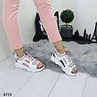 Белые женские босоножки на шнуровке, искусственная кожа 37 ПОСЛЕДНИЙ РАЗМЕР, фото 4