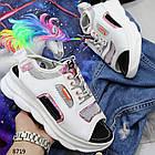 Белые женские босоножки на шнуровке, искусственная кожа 37 ПОСЛЕДНИЙ РАЗМЕР, фото 6