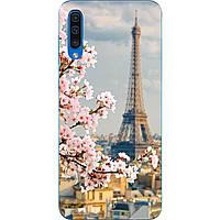 Чехол силиконовый с картинкой для Samsung A50 Galaxy A505 2019 Париж весной